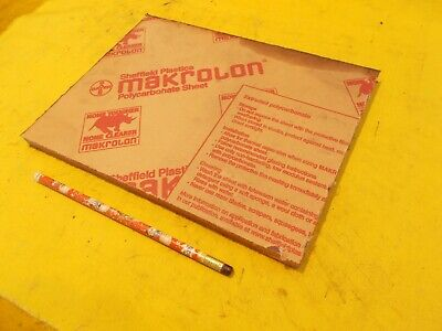 Makrolon Clear Polycarbonate Sheet Glazing Plastic Flat Stock 12 X 8 X 10 12