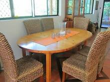 Solid pine dining table with 2 inserts Noosa Heads Noosa Area Preview