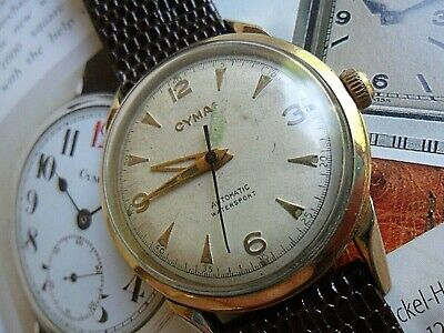 Vintage Men's 1960's Cyma 17J Watersport Automatic Swiss Watch All Original Runs