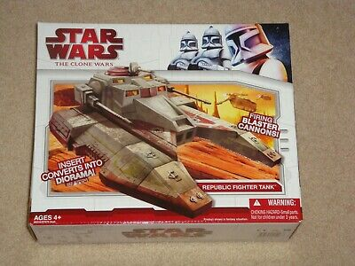 Star Wars The Clone Wars Republic Fighter Tank Sealed Box FREE SHIPPING