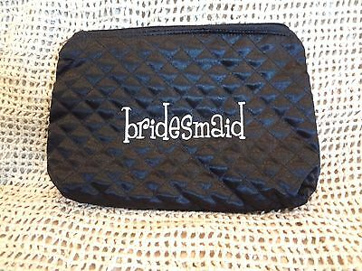 MODERN ROMANCE BRIDAL BRIDESMAID COSMETIC BAG BLACK ~NEW with TAG