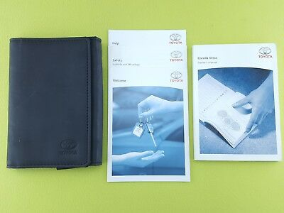 TOYOTA COROLLA VERSO (2004 - 2009) Owners Manual / Handbook + Case / Wallet