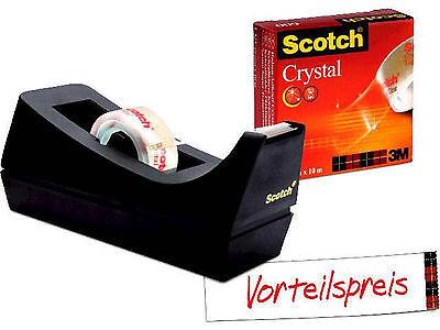 Scotch 83980 Tischabroller Sparset C38 mit 1 Rolle Crystal Clear Klebeband 600