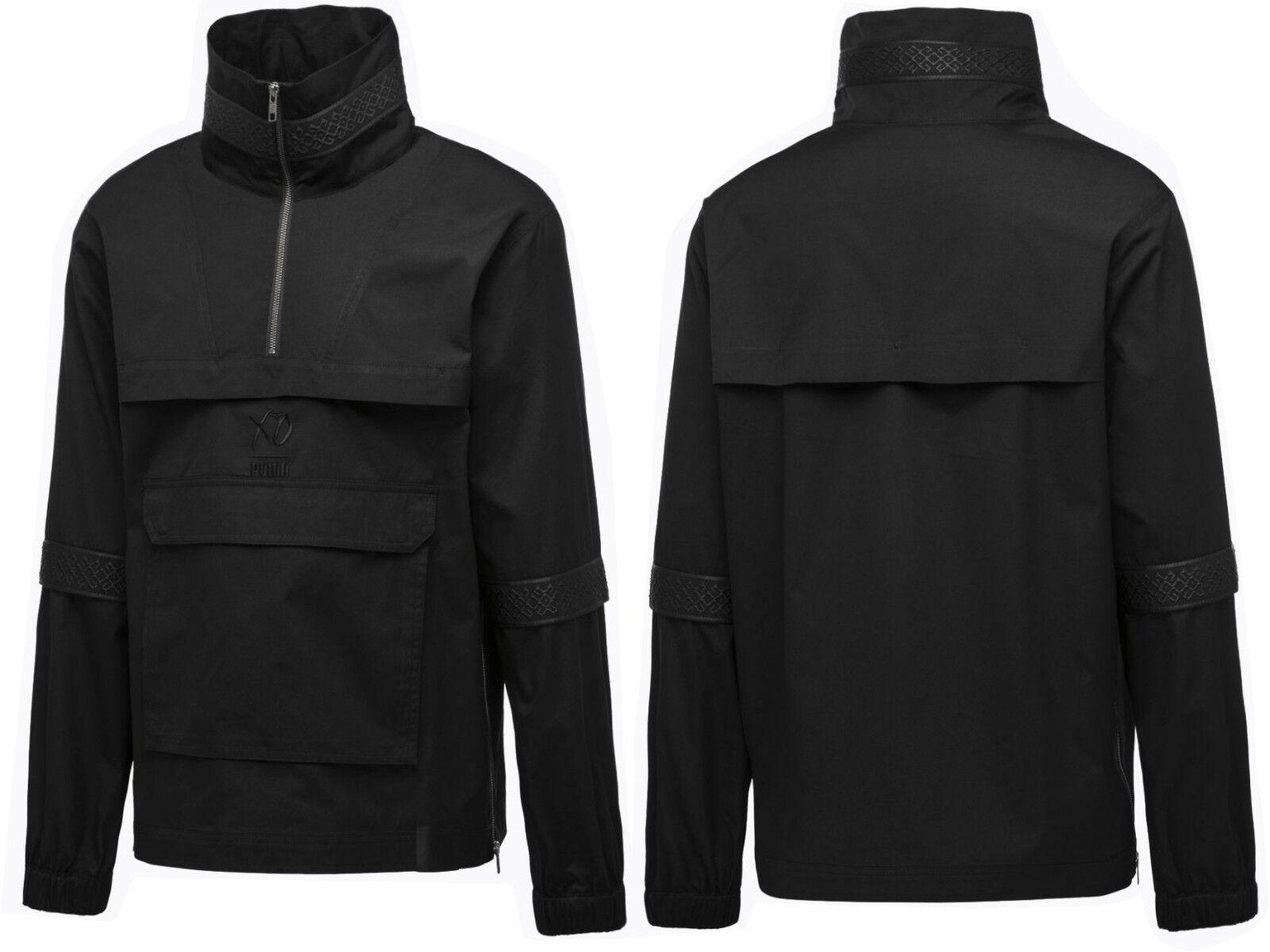 Mens Half Zip Hip Lightweight Jacket Black