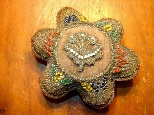 Antique Native American Iroquois Beaded Pin Cushion #2