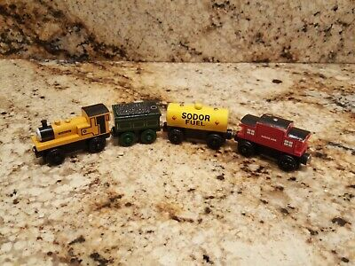 Thomas The Train Wooden lot of 4 Duncan, Emily's Tender, Fuel Car, Caboose