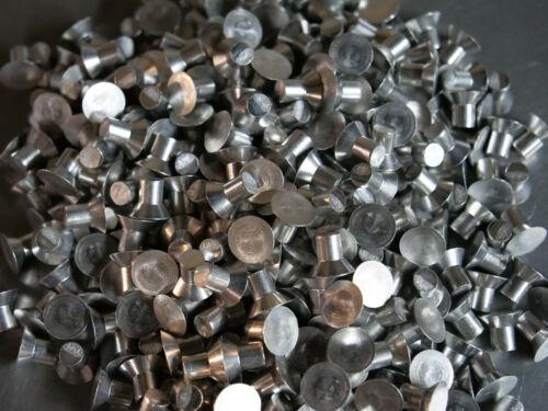 Solid Aluminum Rivet 1/4 Dia x 1/4 Length Countersunk Head 25ea