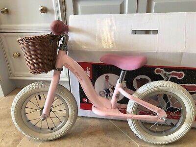 Janod metal vintage bikloon girls balance bike pink age 3- 5