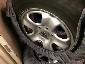 Blizzak snow tires on accord/crv steel wheels 16""