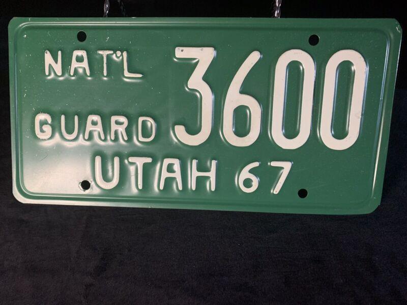 1967 Utah National Guard License Plate # 3600