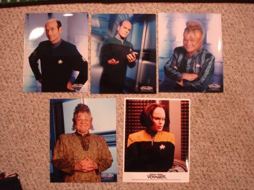Lot of 5 Star Trek Voyager glossy photos 8X10 Neelix The Doctor