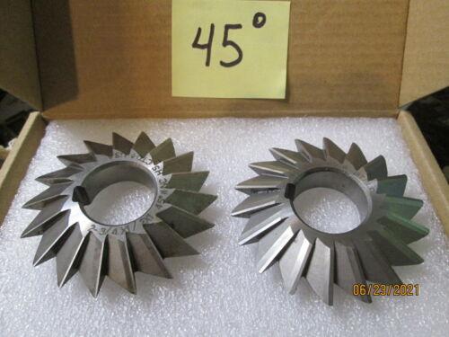 Horizontal Milling Cutters, Double Angle, 60 deg and 45 deg, Ready to cut: Sharp