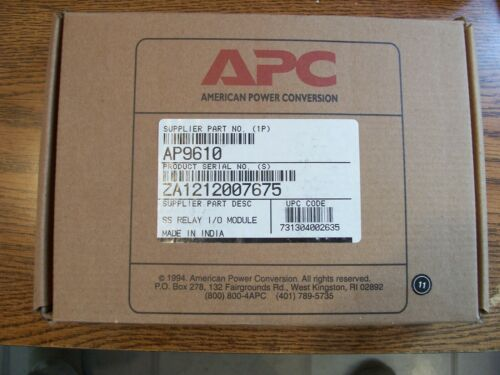 AMERICAN POWER CONVERSION AP9610 SS RELAY I/O MODULE NEW -(From Surplus )