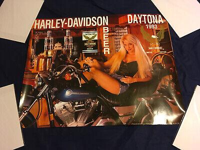 Vintage Datona 1993 Motor Harley Davidson Beer Poster Limited Ed. Advertisement