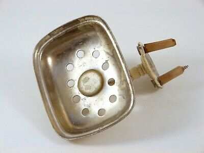 Antique Nickel Brass Sponge/Soap Holder The Brasscrafters Bathroom Wall Fixture