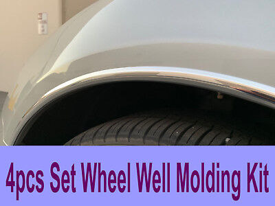 2004-2019 HondaModels 4pc Chrome Wheel Well Fender Trim Molding Kit/5YR WRNTY