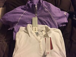 "Women's brand new ""cutter and buck"" golf shirts"