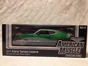 AUTO WORLD 1971 FORD TORINO COBRA GREEN #418 0F 500 MADE