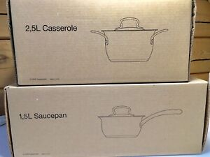 NEW in box Tupperware Casserole Pan (2.5L) and Saucepan (1.5 L)