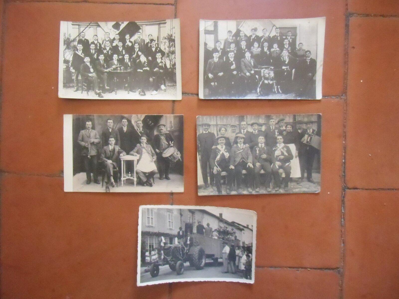 Image of 01 5 cartes photos de conscrits NEUVILLE LES DAMES 1918 1927 191