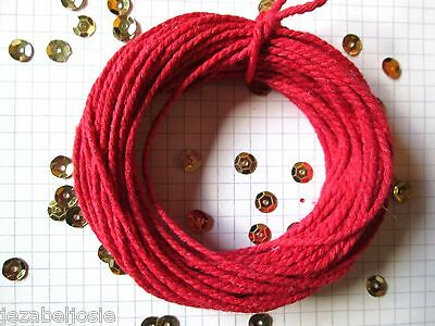 10/20/30mt of 2mm Thick Red Cotton Solid Colour Bakers Twine  Christmas