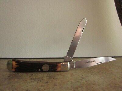 Remington USA R12 Vintage Two Blade Trapper Pocket Knife Nice!