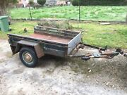 Small car trailer 6x4 980x1800 tray needs work Ringwood Maroondah Area Preview