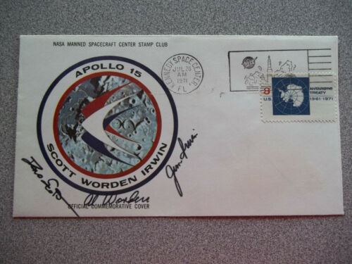 Apollo 15 Autographed Crew Insurance Cover