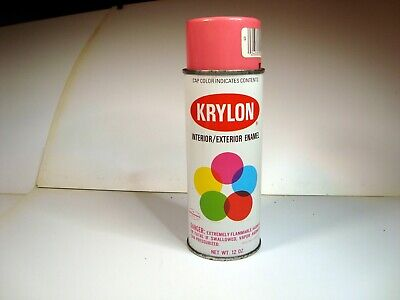 Vintage Krylon HOT PINK Spray Paint Metal Can Colored Cap NEW OLD STOCK -