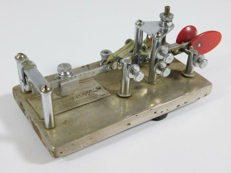 Vibroplex Lightening Bug Ham Radio CW Telegraph Key Vintage 1944 SN 132390