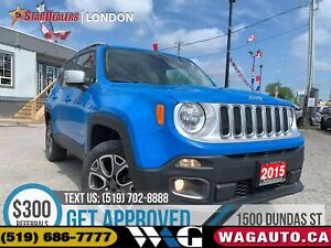 2015 Jeep Renegade Limited | 4X4 | NAV | LEATHER | CAM