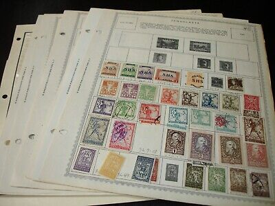 Yugoslavia, Small Stamp Collection on Minkus Album Pages.