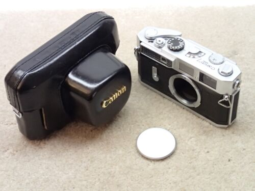 Canon 7 Vintage Rangefinder Camera Body with Case Nice