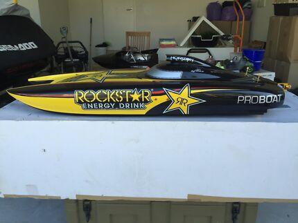 """Rockstar 48"""" rc boat petrol, brand new!"""