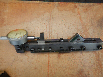 Machine Shop Check Jig Gauge Gage W Mitutoyo Dial Indicator Machinist Tool L2