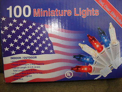 MINIATURE LIGHTS 100 RED WHITE AND BLUE](Red White And Blue Lights)