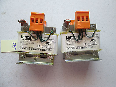Lot Of 2 Fresh Takeout Lenze 3 Pole Reactor Ezn3a2400h002 500v 1.8a 212-1