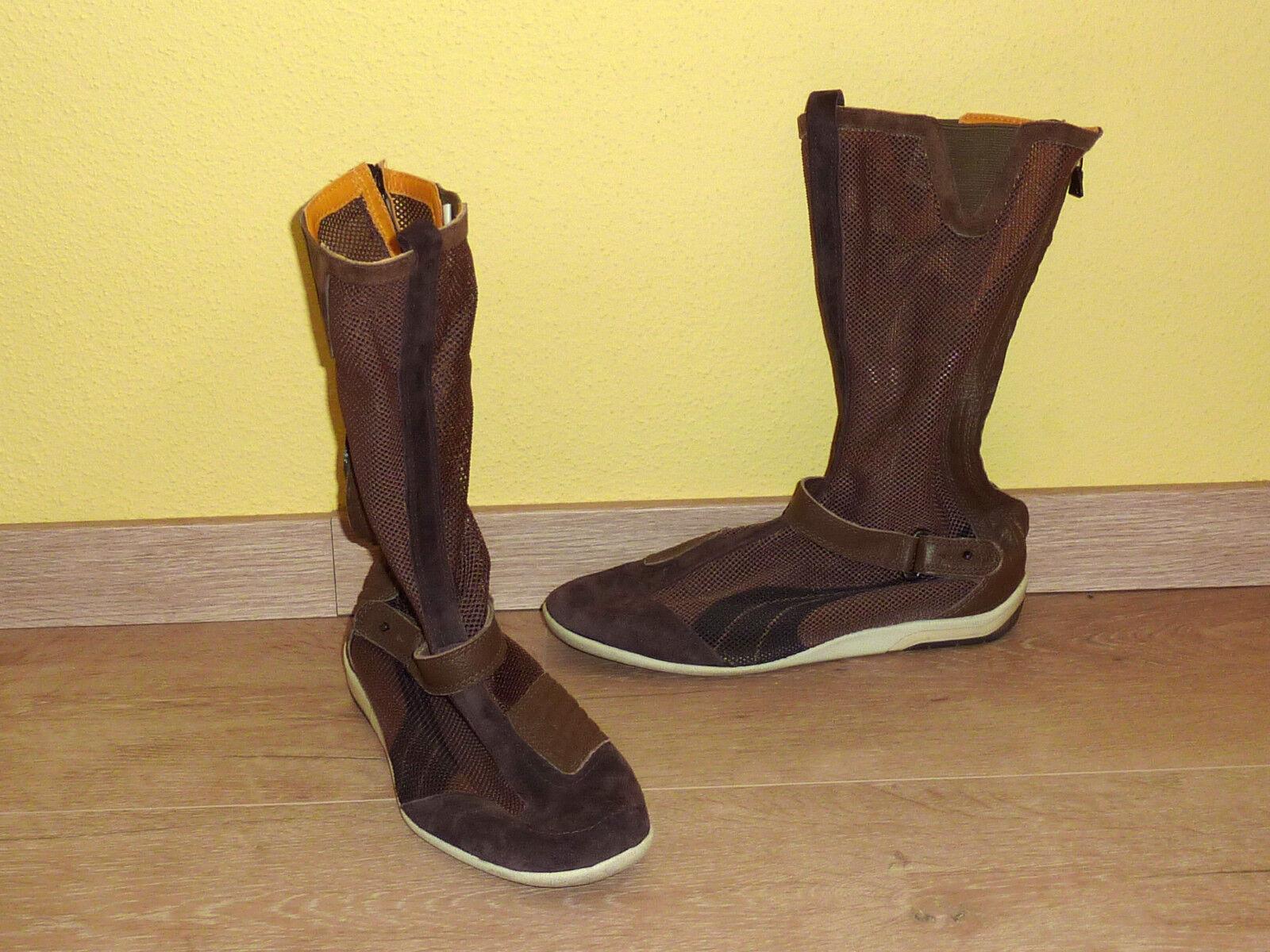 Puma Stiefletten Sommer braun Größe 40 neuwertig
