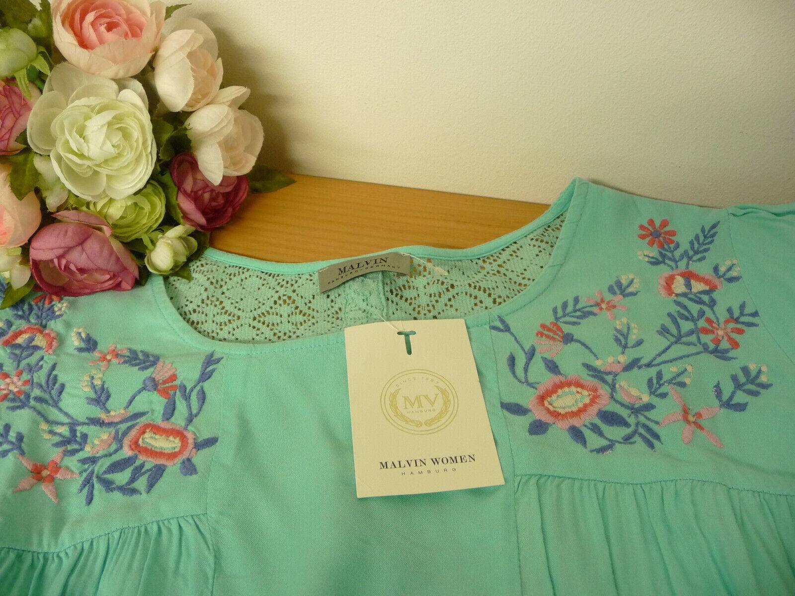 *Malvin* zuckersüße Tunika Bluse Longform Stickereien Spitze Gr. L(42) 44-46 NEU