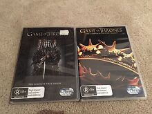 Game of Thrones Season 1 - 2 DVD box sets Wyong Wyong Area Preview