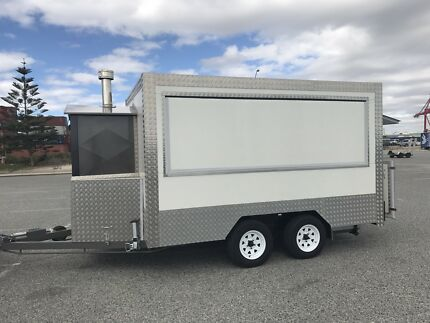 Custom made food trailer with work and business set up