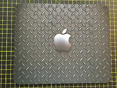 METAL APPLE effect print MOUSEMAT MOUSE MAT PAD compatible with Mac iMac MacBook