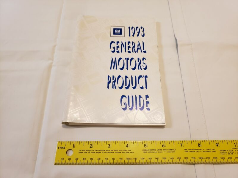 1993 General Motors Product Guide - book with GM vehicle details