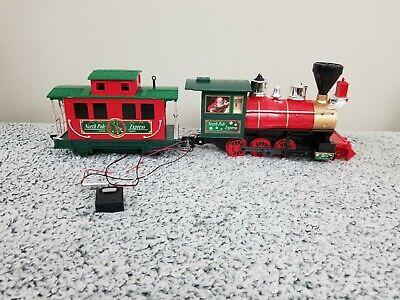 Eztec North Pole Express Christmas Train Set Locomotive 3 Pcs incl small remote