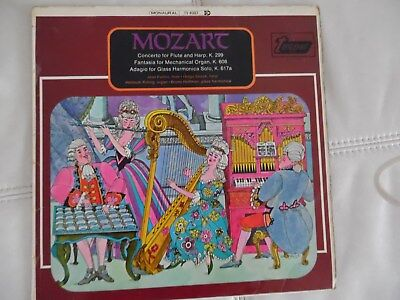 MOZART CONCERTO FOR FLUTE AND HARP K.299 TURNABOUT VINYL LP MONO TV4087