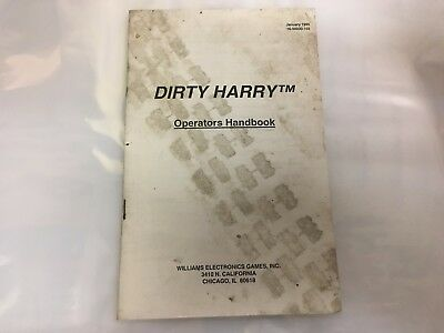 Dirty Harry Pinball Machine Operator's Handbook Manual