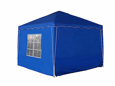 Pavillion stoff Seitenwand  Alu Faltpavillon 3x3m Pavillon 280g Qualität blau