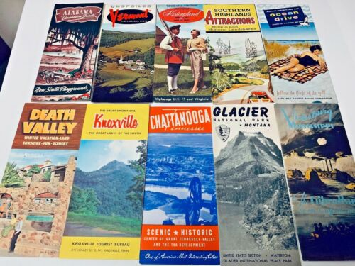 VINTAGE MIXED  LOT OF TRAVEL BOOKLETS  SET 1