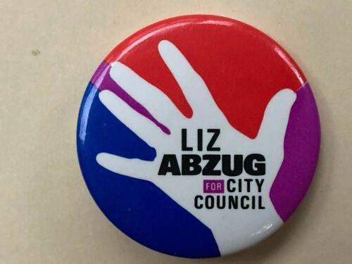 Liz Abzug New York City Council Campaign Button Gay & Women