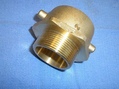 Brass Fire Hose Swivel Adapter 1-12 Fnst X 1-12 Mpt Sm150f Dixon Valve